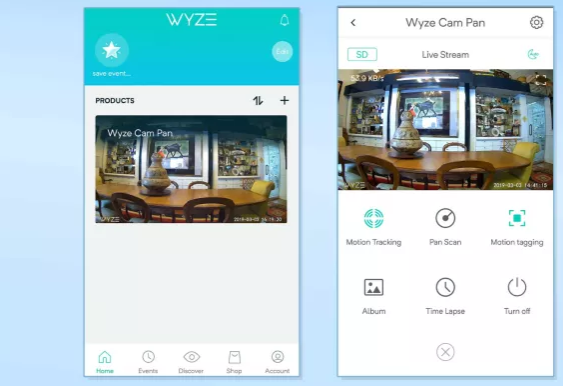 Mobile App Wyze Cam Pan