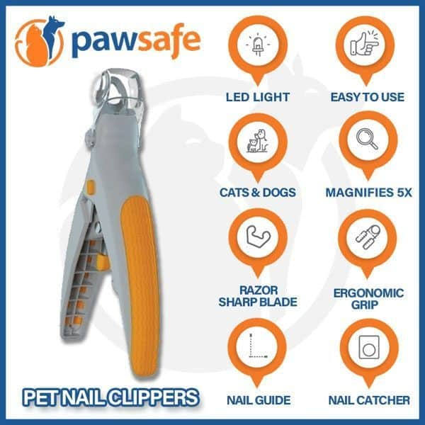 features of pawsafe nail clipper
